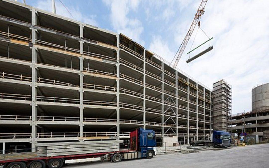 E-Betoonelement lõpetas tööd Eesti suurimal kaubandus- ja meelelahutuskeskusel T1