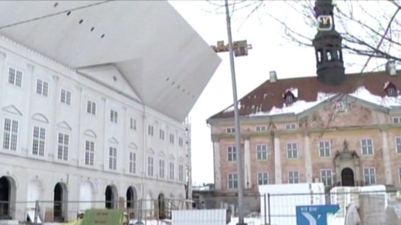 TÜ Narva kolledži fassaad viitab linna ajaloole