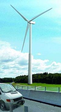 Ветрогенераторы будут размещены вверх