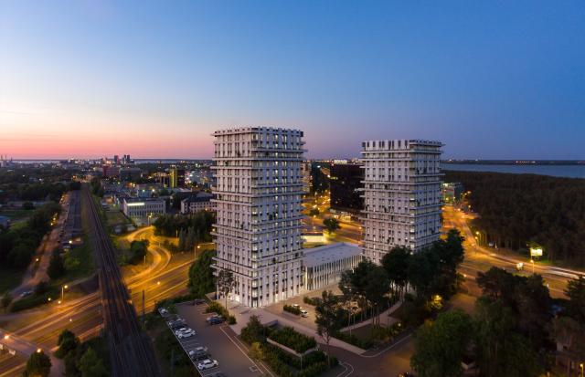 Unikaalse arhitektuuriga Järve tornid valmivad elementidest