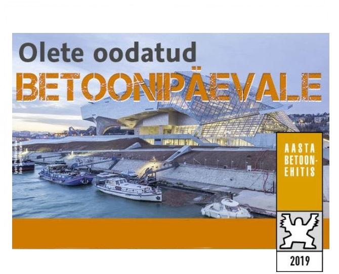 """11. märtsil toimub Betoonipäev – kuulutatakse välja """"Aasta betoonehitis 2019″ võitja"""